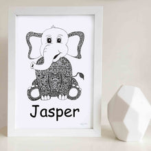 Elephant nursery print for baby room by Hayley Lauren Design