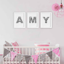 kids bedroom ideas - Amy floral letters