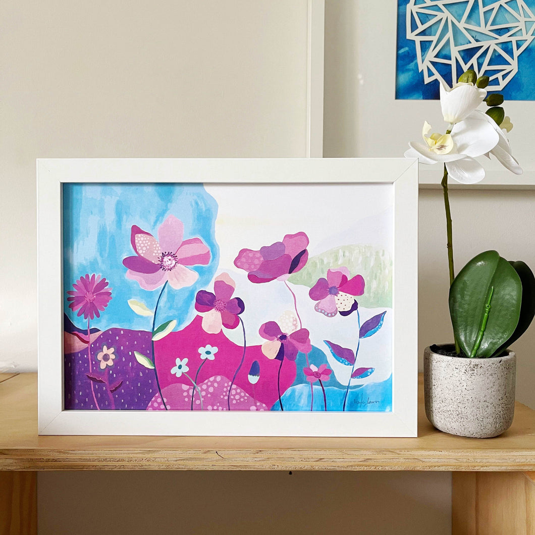 the perfect valentines day gift flowers that last art print Melbourne by Hayley Lauren design