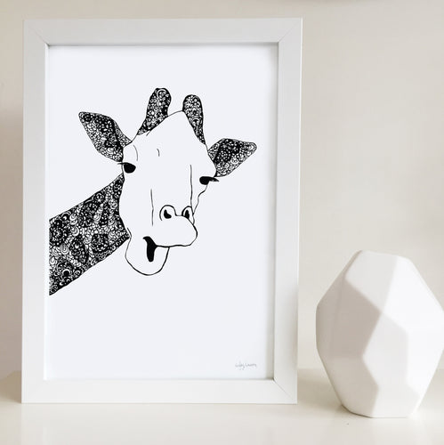 Giraffe nursery print by Hayley Lauren Design