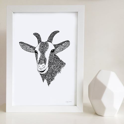 Goat print for baby room by Hayley Lauren Design