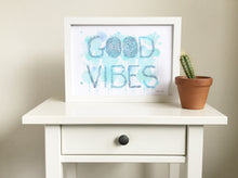 Good Vibes art print by Hayley Lauren Design