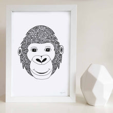 Grant the Gorilla Nursery or Kids Bedroom Art Print