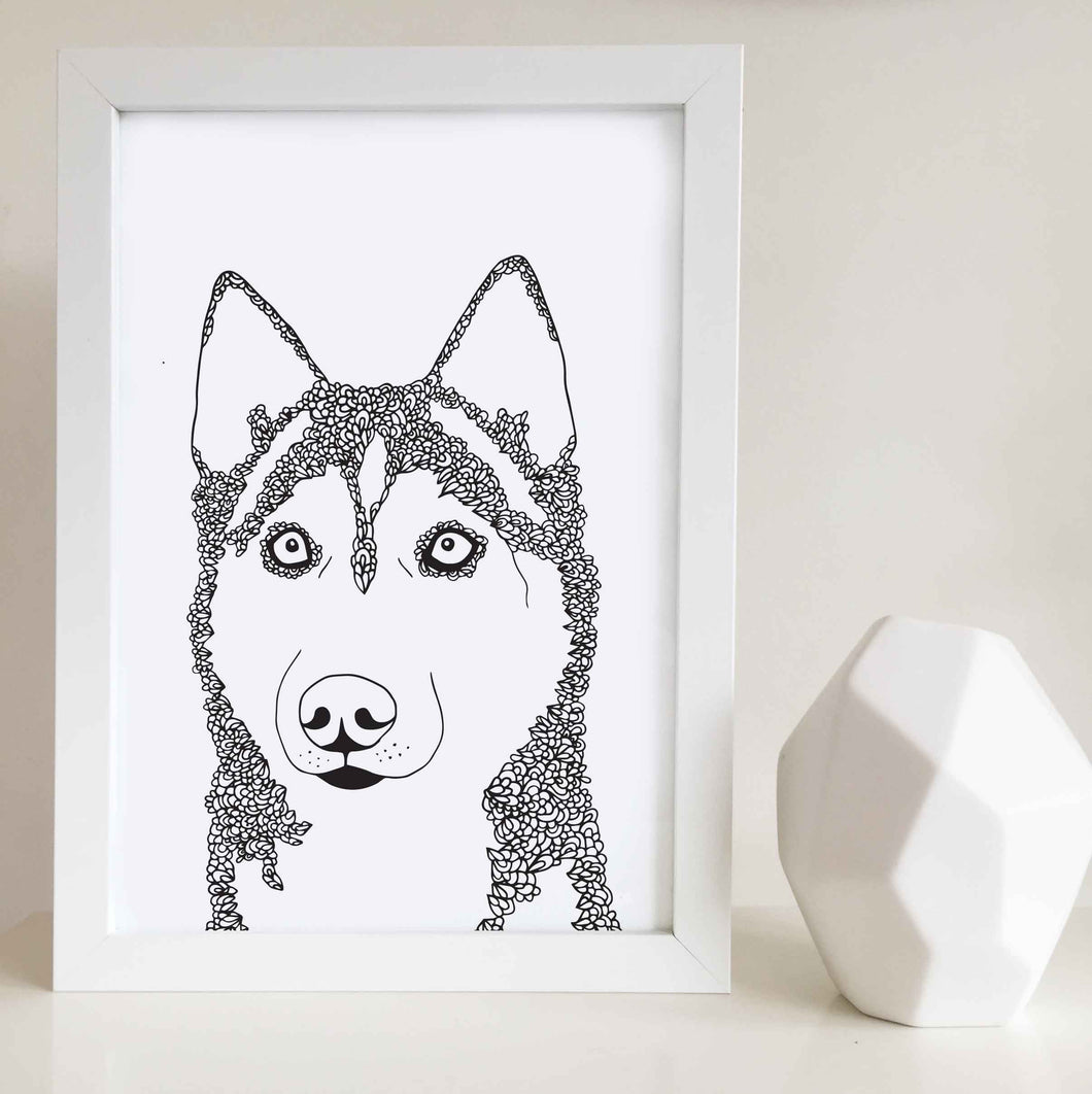 Husky Dog Art Print