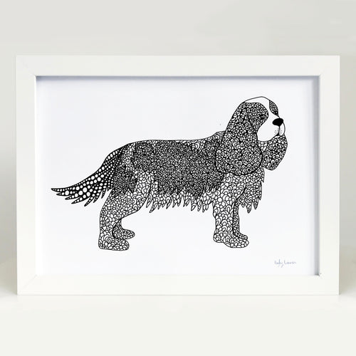 King Charles Cavalier Dog Art Print