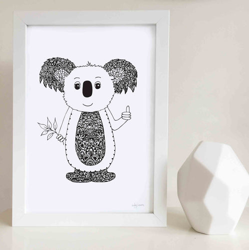koala nursery or kids bedroom wall art print