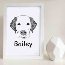custom labrador dog art print