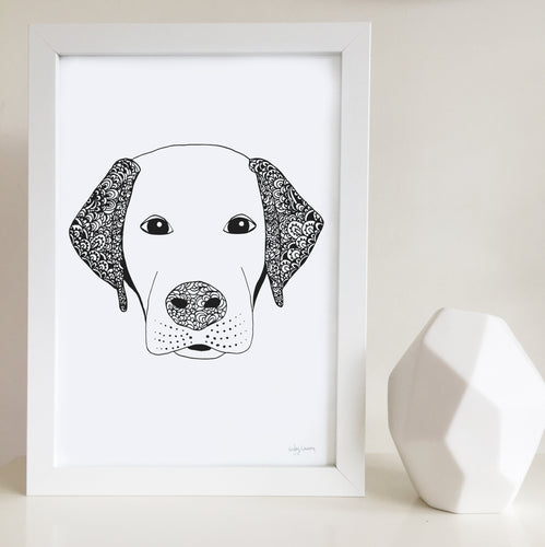 Larry the Labrador Wall Art print
