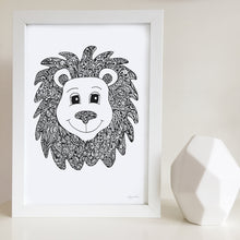 Lion nursery print for baby room by Hayley Lauren Design