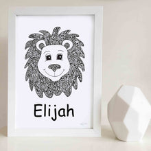 Leo the Lion Nursery or Bedroom Art Print