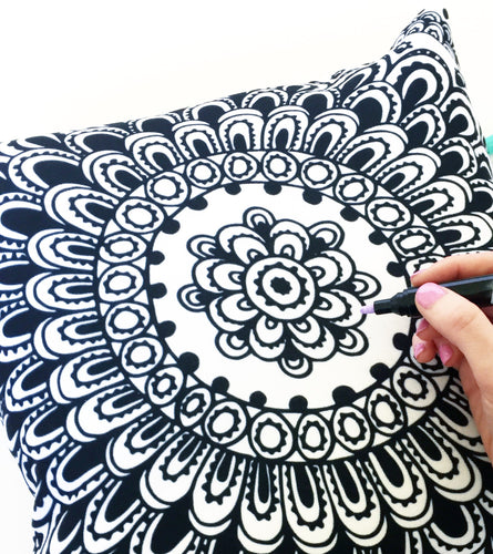 Colouring in Pillow - Mandala