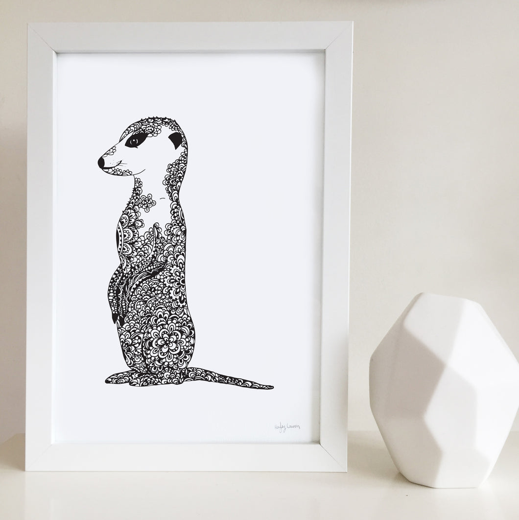 Mike the meerkat nursery or bedroom art print