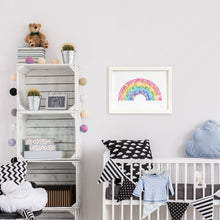 rainbow artwork for kids bedroom decor by Hayley Lauren Design