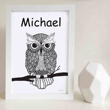 Owen the Owl Wall Art Print