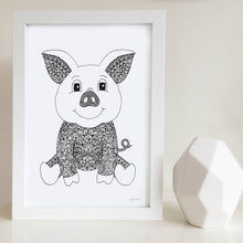 Pinky the Pig Nursery or Kids Bedroom Art Print
