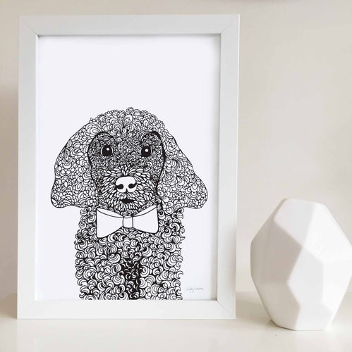 Paul the Poodle Wall Art Print