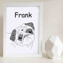 Peter the Pug Wall Art Print