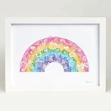 Rainbow art print by Hayley Lauren Design for kids bedrooms