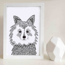 Samoyed Dog Art Print