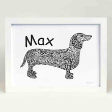 custom dachshund artwork sausage dog