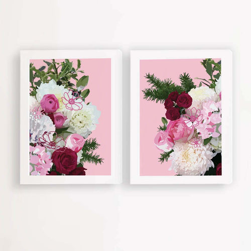 say it with flowers art prints illustrated by Hayley Lauren in Melbourne australia