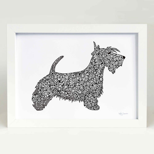 Scottish Terrier Dog Art Print