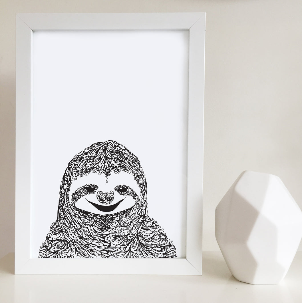 Sloth nursery or kids bedroom art print