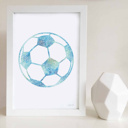 soccer ball wall art print