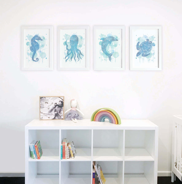 Under the Sea Collection Wall Art Prints