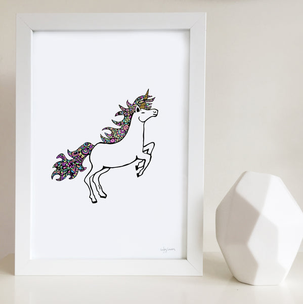 Unicorn nursery or bedroom wall art