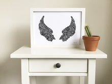 angel wings art print for kids room