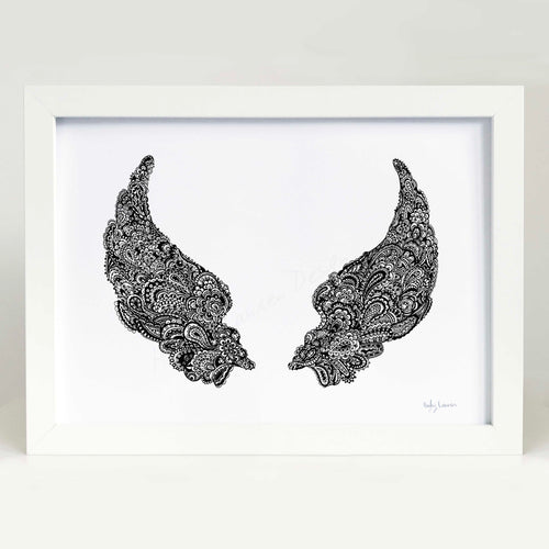Angel wings artwork for baby room or kids bedroom by Hayley Lauren Design