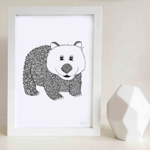 Willow the Wombat Nursery or Bedroom Art Print