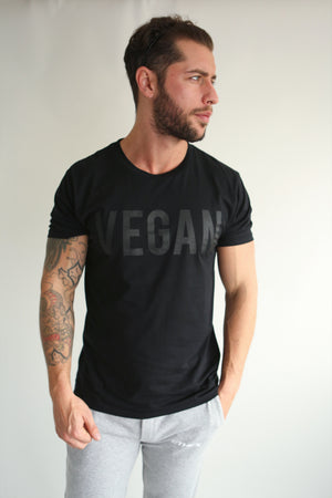 BLACK ON BLACK VEGAN TEE - UNISEX - ETHCS