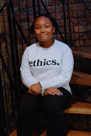 ethics. CREAM SWEATSHIRT - ETHCS