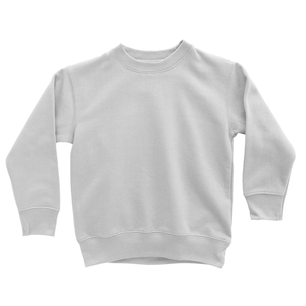 greatness logo white Classic Kids Sweatshirt