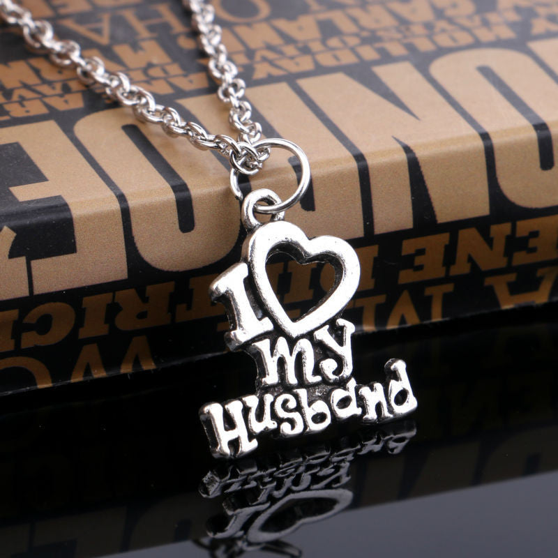 I Love My Wife/I Love My Husband Charm Pendant