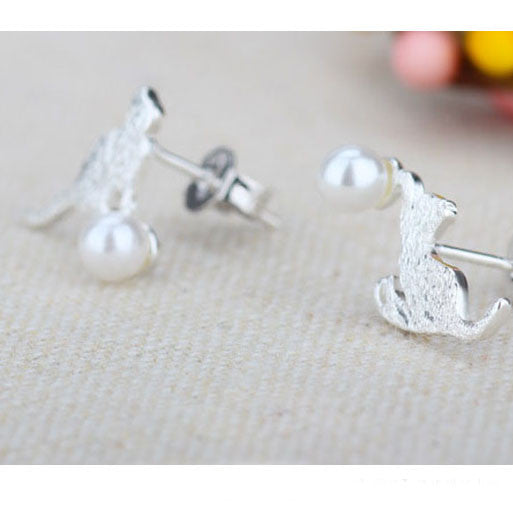 Pear Cat Earrings