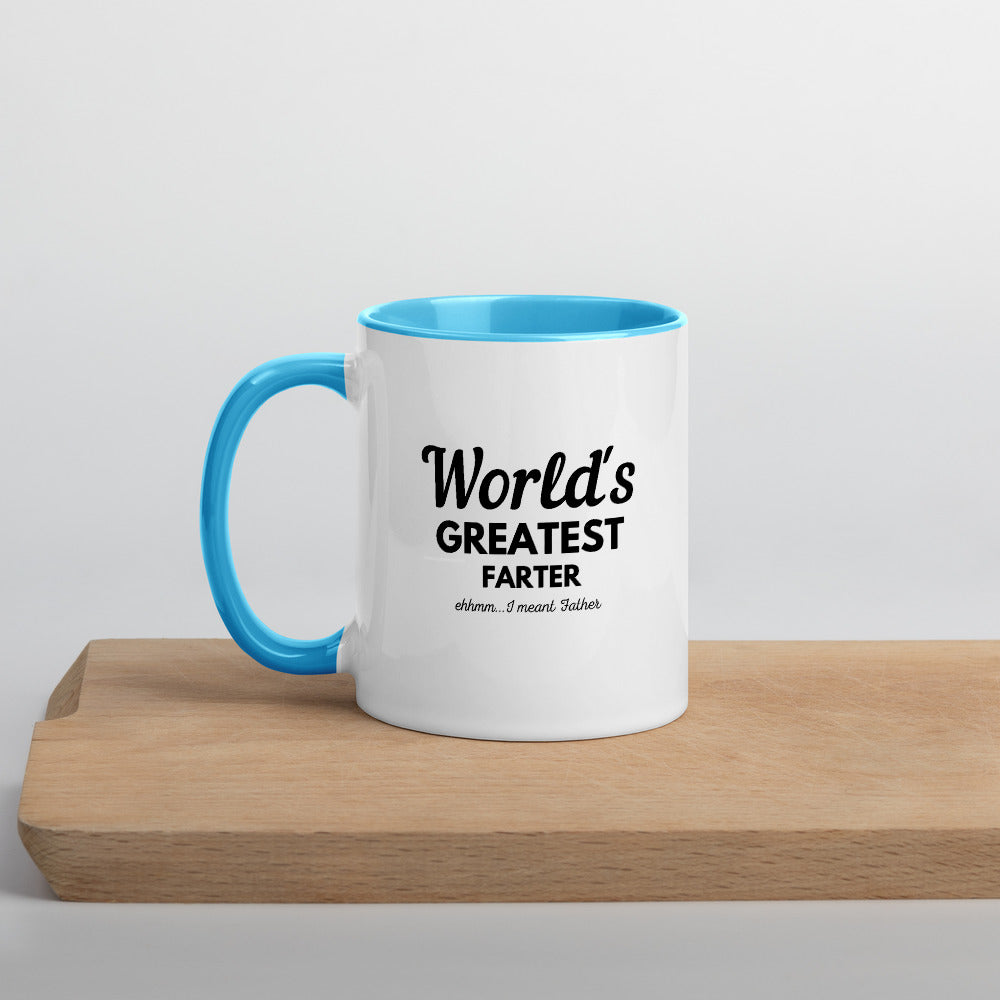 Happy Father's Day Mug with Color Inside - World's Greatest Farter