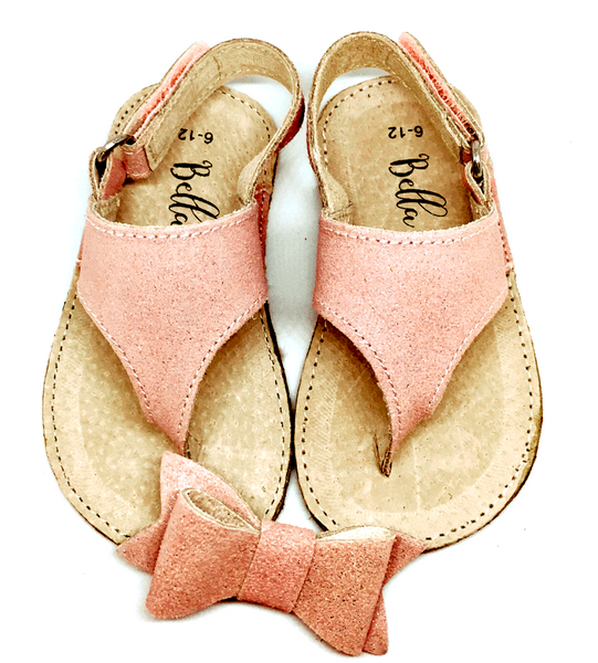 Bella💛Eve #MATCHYMATCHY Leather Sandals & Bow GIFT SET