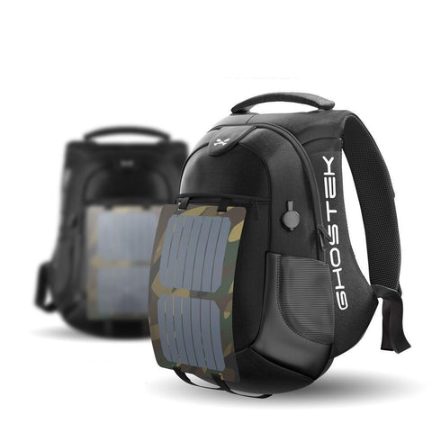 Travel Backpack with Charger & Solar Power, BackPack, GHOSTEK, AdSpell