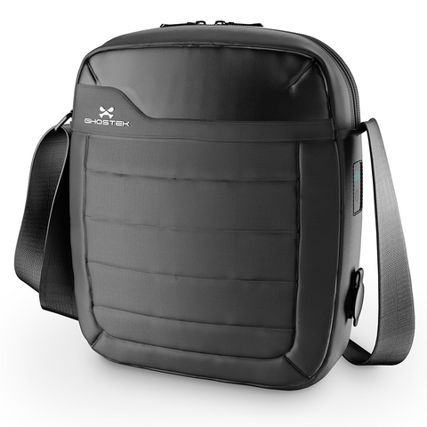 Tablet Messenger Bag with Built-in Charger