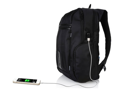 Trakk Fuel Anti-Theft Backpack + Built-In Rechargeable Battery , BackPack - UVIYO