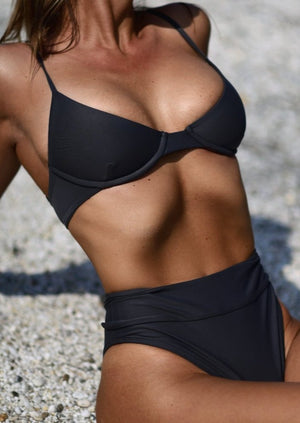 Capri Balconette Top in Charcoal