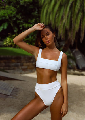 Mallorca Top - Ivory Ribbed