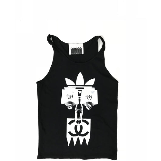 BWOOD - africa logo tank top