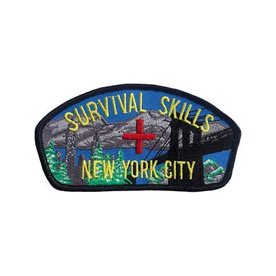survival skills sew on patch