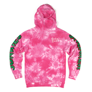 long arm pink tie dye