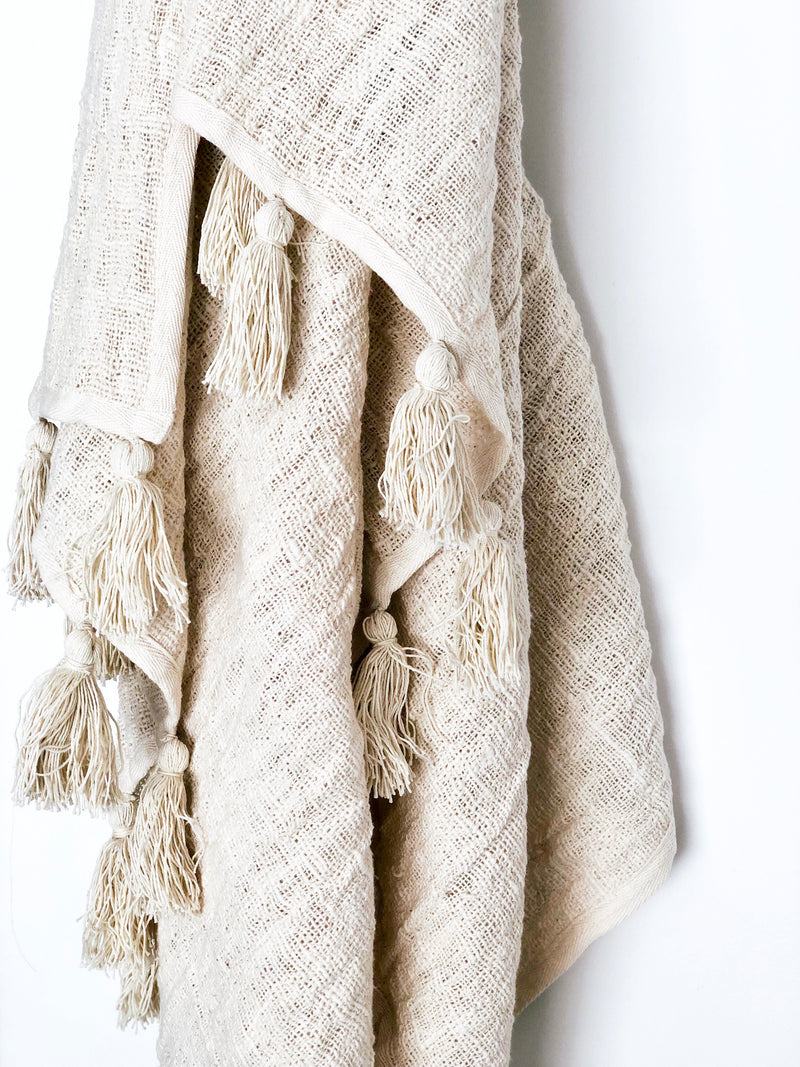 Raw Cotton Throw