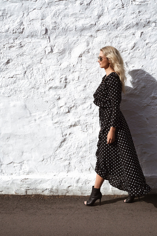 Polka Dots Wrap Dress